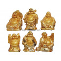 Golden Laughing Buddha - Set of 6 Pcs