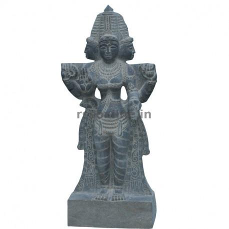 Granite Brahma Stone Statue