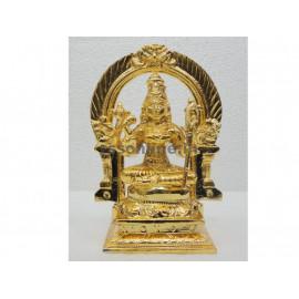 Kamatchi With Thiruvachi - Gold Coating