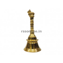 Hand Bell Nandhi - Gold Coating