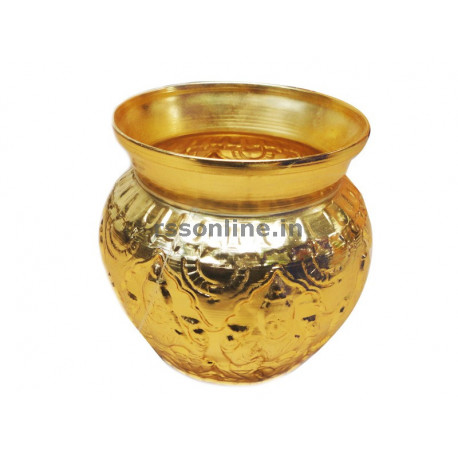 Astalakshmi Sombu Copper - Gold Coating