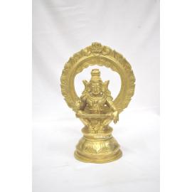 Ayyappa with Thiruvachi Brass statue