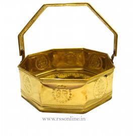 Flower Basket Brass