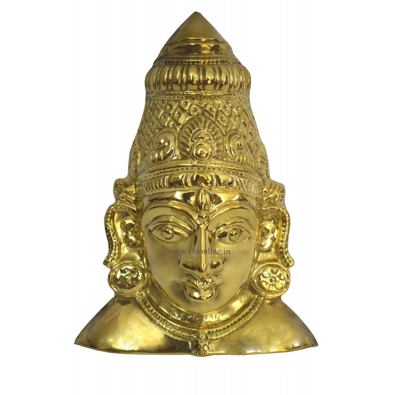 Amman Face Plain Brass for Temple Aarti Items Online – rssonline