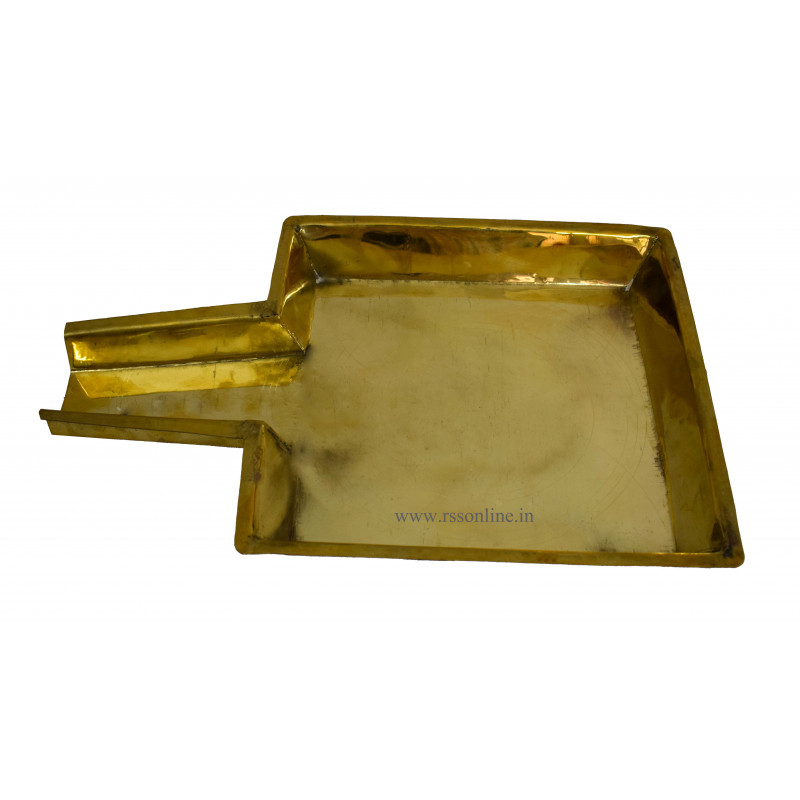 Abhishega Plate Square Brass for Pooja Article Items – rssonline