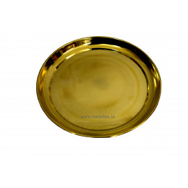 Brass Puja Plain Plate