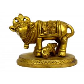 Pasuvum Kandrum small Brass