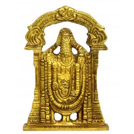 "Perumal Brass Statue 4"""
