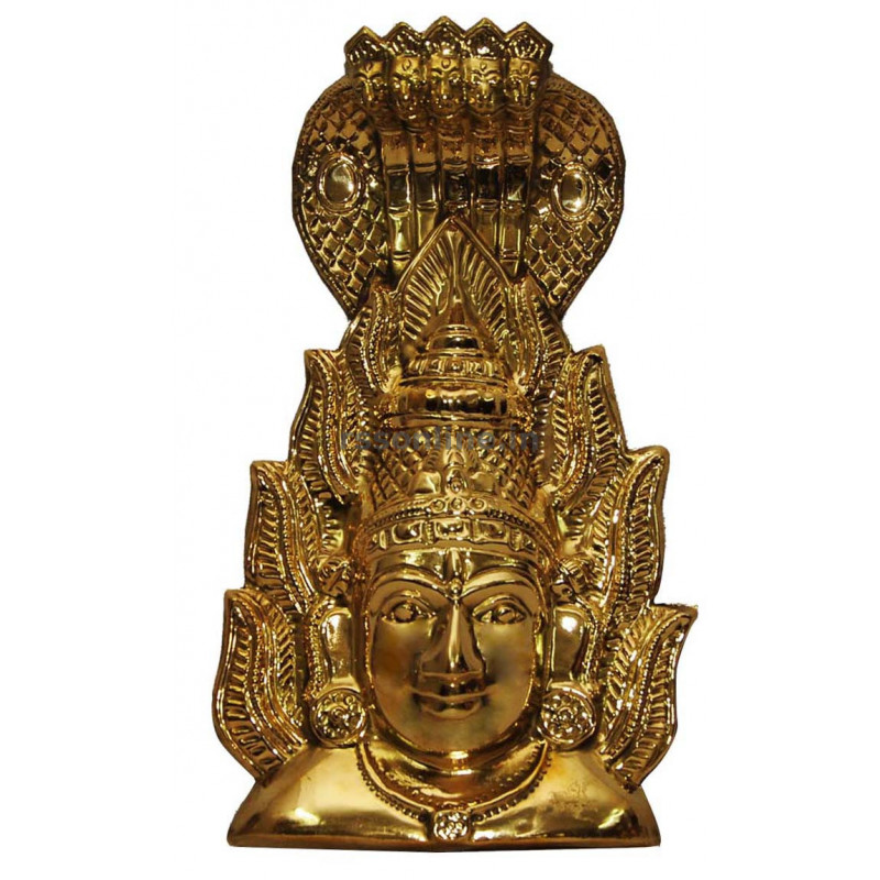 Amman Face Nagam Brass – Temple Aarti Items – God Amman Kavasam