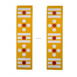 Yellow Sticker Border - Vibhuti Pattai