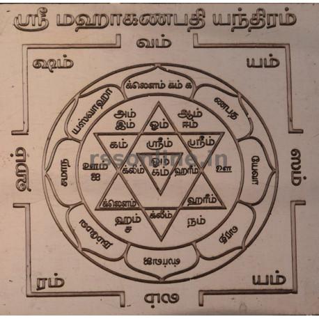 Sri Maha Ganabathi yantra