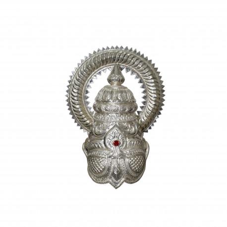 Vinnayagar Greedam Pillayar Silver Greedam Vinnayagar silver crown 2Kg silver pillayar greedam