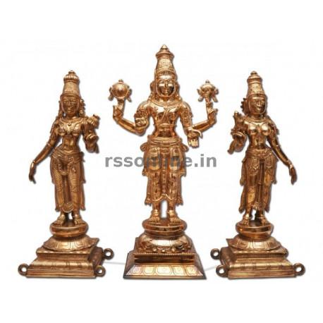 Perumal with Sridevi and Bhudevi
