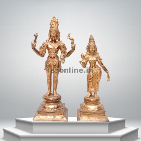 Shiva & Parvati - Panchaloha