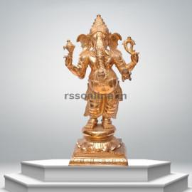 Valampuri Standing Ganesh - Panchaloha