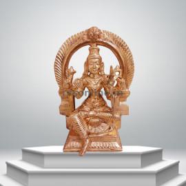 Raja Rajeshwari with Arch - Panchaloha