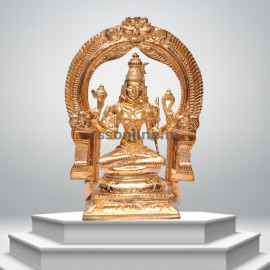 Seated Kamatchi with arch - Panchaloha