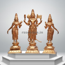 Muruga With Valli Deivani - Panchaloha