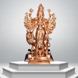 Durga Devi - 12'' - Panchaloha