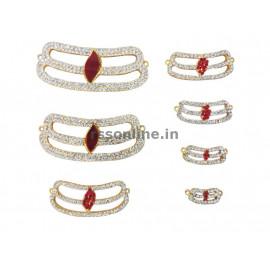 Horizontal Three Stripes(Vibuthi Pattai Tripundra Tilak-Female Deity)